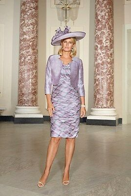 SALE Condici Mother of the Bride Lilac Purple Check Pastel Size 14 BNWT RRP £940