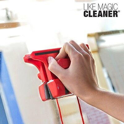 Like Magic Magnetic Glass Cleaner, Household Window Wash System Cleaning Device