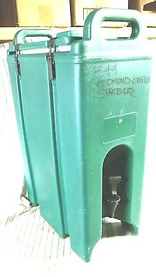 Cambro Model 500LCD  = 5 GALLON Dark Green Insulated Beverage Dispenser