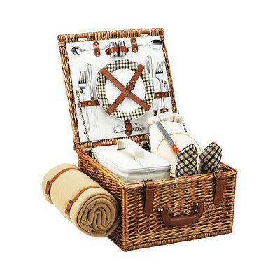 Picnic at Ascot Cheshire Basket for Two with Blanket