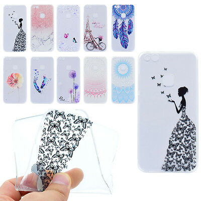 Pattern Rubber Cute Silicone Cover Clear Soft TPU Back Case For Various Phone