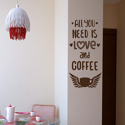 WANDTATTOO SPRÜCHE KÜCHE - A352 - All you need is Love an Coffee ...
