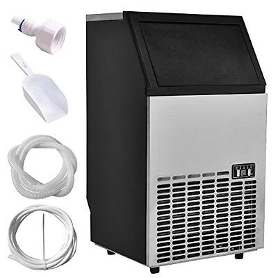 Costzon Built-In Stainless Steel Commercial Ice Maker Portable Ice Machine Re...