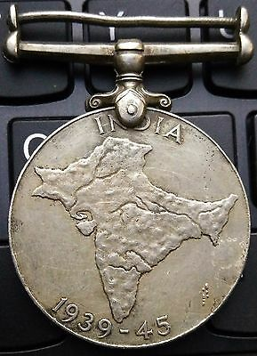British India - Ww2 India Full Map 1939-45 Named Medal See Details