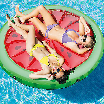 Large watermelon lilo inflatable 2 person Lounger Swimming Pool Float Beach kids