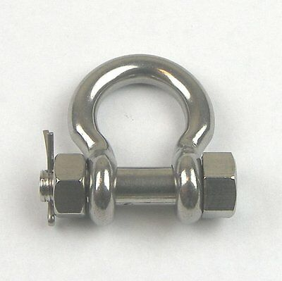 1pc- Stainless Steel T316 Bolt Pin Anchor Shackle- Safety Bolt Shackle - 5/16""