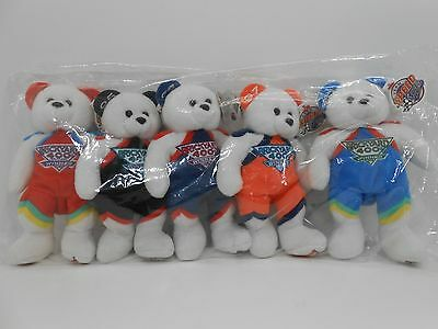 Plush NASCAR Collectible Bears Set 1994-1998 Dale Earnhardt Jeff Gordon New Vtg