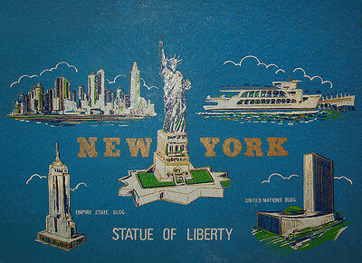 Vintage Mid Century New York Serving Bar Tray Statue of Liberty