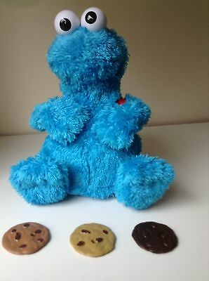 COOKIE MONSTER Count and Crunch Interactive toy Complete With 3 cookies Rare
