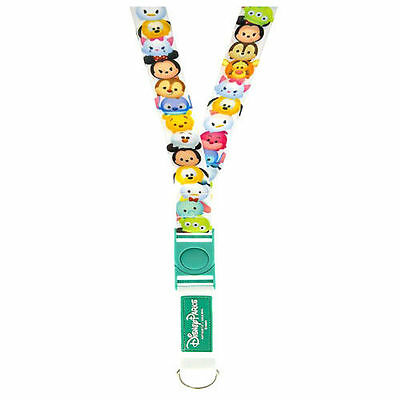 New Authentic Disney Parks Tsum Tsum Reversible Trading Lanyard