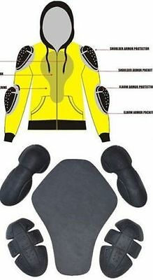 MENS Armoured motorcycle Full  Lined Fleece Hoodie paded Protection S- 3XL SIZE