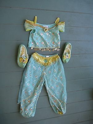 DISNEYLAND DISNEY Princess Jasmine Aladdin 3p COSTUME girl size 6 - 6X halloween