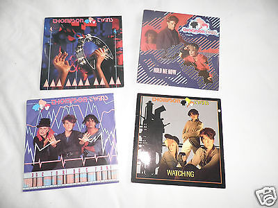 "thompson twins x4 records doctor doctor 80,s pop 7"" records"