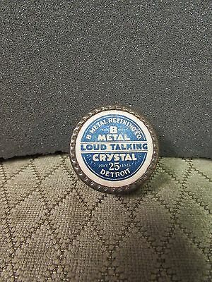 B Metal Refining Loud Talking Brand Galena Radio Crystal In Box