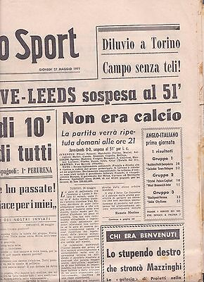 1971 FAIRS CUP FINAL Juventus v Leeds United (Abandoned Match)