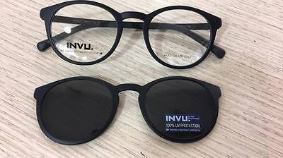 Invu Polaroid Occhiali da Vista glasses con lenti da sole Clip-on Sunglasses new