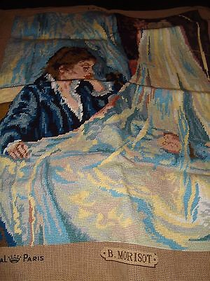 Royal Paris Large Le Berceau completed tapestry 47cm x 60cm