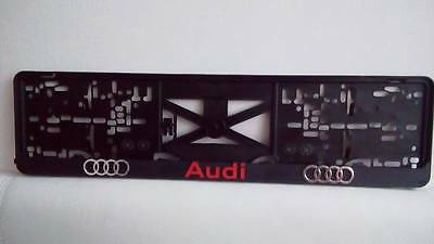 Audi red, 3D effect License Number Plate Holders