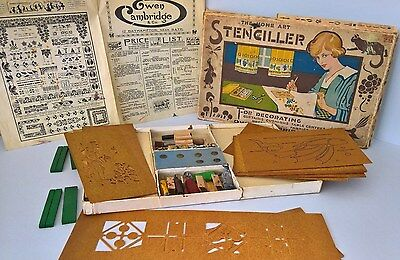 Vintage /Early 20th Century - The Home Art STENCILLER Set by Owen Cambridge & Co