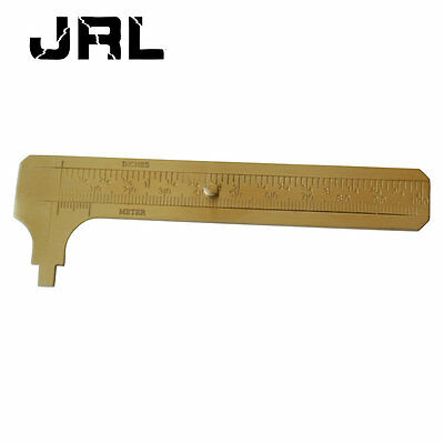 MINI SIZE BRASS POCKET CALIPER GAUGE MEASURING TOOL 100mm 3.94 INCH