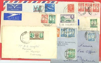 Southern Rhodesia Group of 9  covers to USA & UK Lot#1518