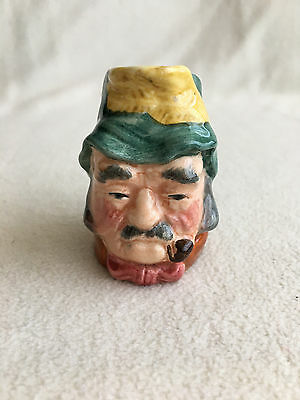 """Staffordshire Pottery - """"Gaffer"""" - Hand painted Toby Jug 4""""Tall"""