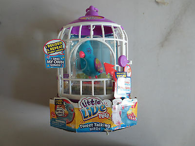 Little Live Pets Bird With Cage Funky Feathers Moose Toys Fun