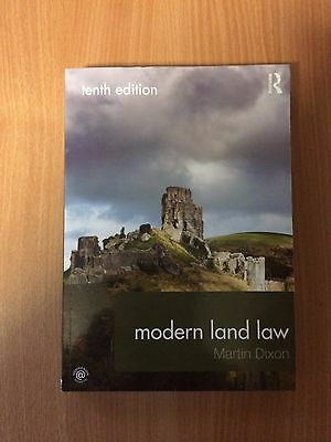 Modern Land Law by Martin Dixon (Paperback, 2016) Tenth edition