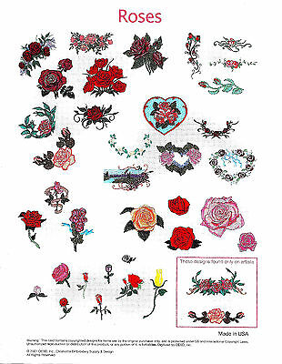 ROSES A1008 Embroidery Machine Memory Card for Bernina Artista