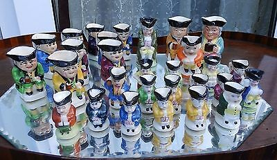 Vintage Miniatures : An Army of 29 Toby Jugs - Various