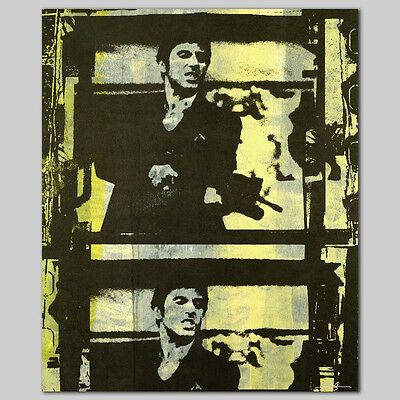 Scarface Original S/s Canvas Gail Rodgers Signed Coa Al Pacino