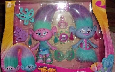 Kids Toys DreamWorks Trolls Satin and Chenille's Twins Style PLAY Set Girls