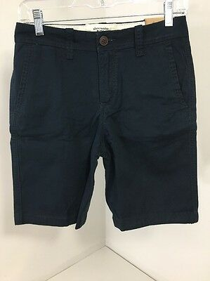 Abercrombie & Fitch Kids Boys Classic Plain Front Shorts Navy Sz 13/14 Nwt $30