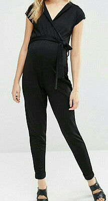 Bluebelle Maternity Black Jumpsuit W/ Tie Size 8-10 UK- New with tags