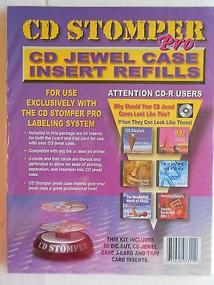 New CD Stomper Pro CD Jewel Case Insert Refills 50 Die Cut Case J-Card and Tray