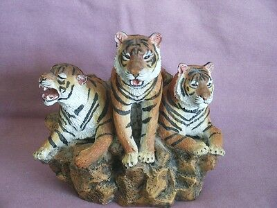Bengal Tigers Statue Figurine Heavy Resin Wild Jungle Animal