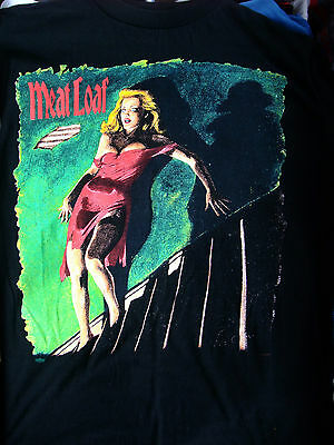 Vgt Meat Loaf Wellcome to Neighborhood 1995 T SHIRT black cotton Sz Large