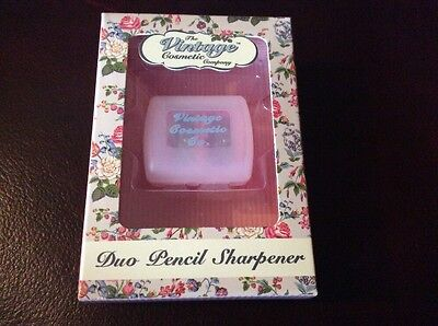The Vintage Cosmetic Company Duo Pencil Sharpener - BNIB