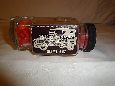 Jeannette Glass Car Candy Container Fresh Pak Candy Co Vintage 1940's -1950's