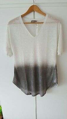 New Ladies Ex Asos Maternity Tunic Top Size 8 - 16 Casual Loose White Grey