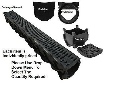 Drainage Channel Heelguard 1m Lengths Storm Channel Quad Box End Cap Body Outlet