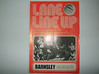 Sheffield United v Barnsley County Cup - Tues 30th Oct 1973