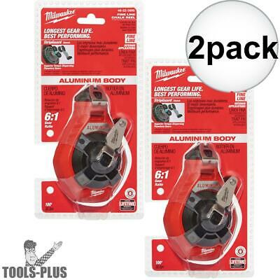 2pk 100' Fine Line Chalk Reel (Fine Line) Milwaukee 48-22-3990 New