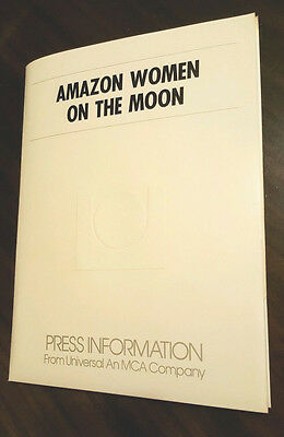 AMAZON WOMEN ON THE MOON PRESS KIT Producer-Signed CARRIE FISHER Sybil Danning