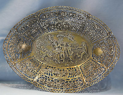 German 800 Gilt Silver Pierced/Reticulated Basket Circa 1915