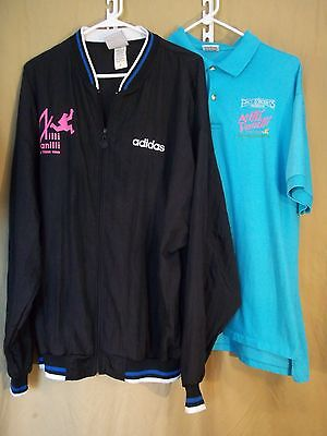 Milli Vanilli XL Tour Windbreaker and Shirt with Itinerary 1990 Gently Used