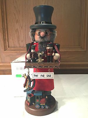 Zim's Heirloom Collectible - Toy Vendor Wooden Christmas Nutcracker, Signed 1996