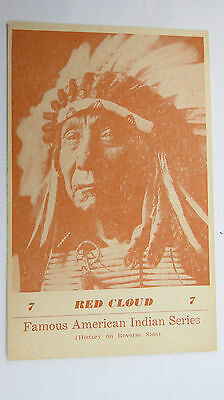 1941 Sioux Warrior Chief Red Cloud Famous American Indian Series Postcard No 7