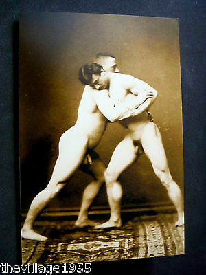 Greeting Card / Two nude wrestlers / Gay Interest
