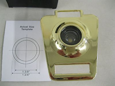 New Keystone Commercial Door Viewer W/ Name Plate~Peep Hole~Visor Lens~Security